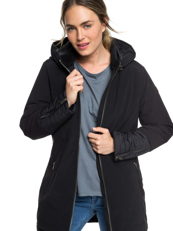 0 Snow Escape - Padded Parka for Women Black ERJJK03233 Roxy