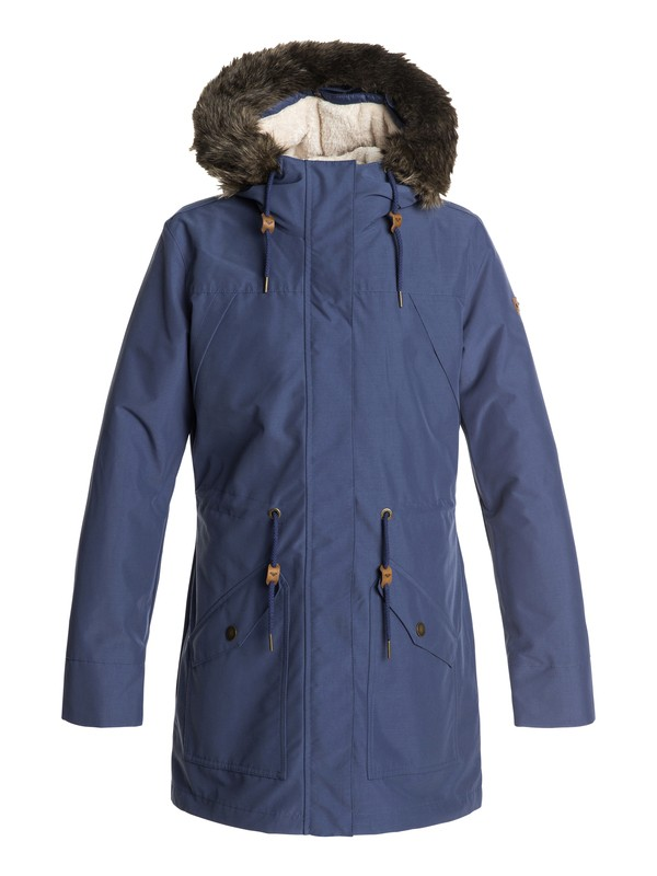0 Amy - 3-In-1 Waterproof Parka for Women Blue ERJJK03235 Roxy