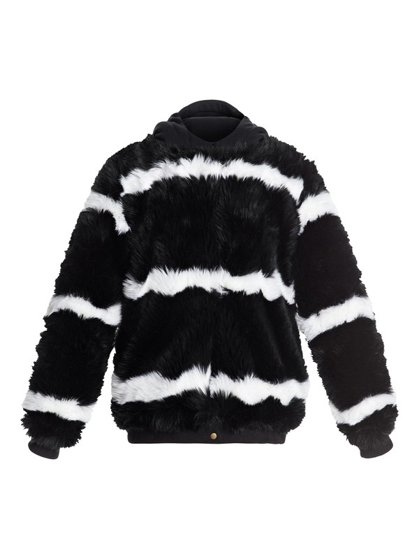 0 Carrie - Technical Faux-Fur Jacket for Women Black ERJJK03236 Roxy