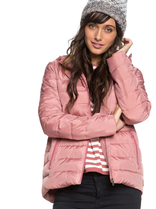 0 Rock Peak - Water Repellent Padded Jacket for Women Pink ERJJK03250 Roxy