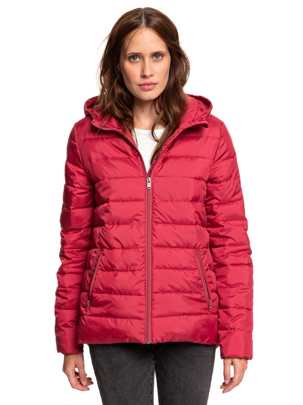 0 Rock Peak - Water Repellent Padded Jacket Red ERJJK03250 Roxy