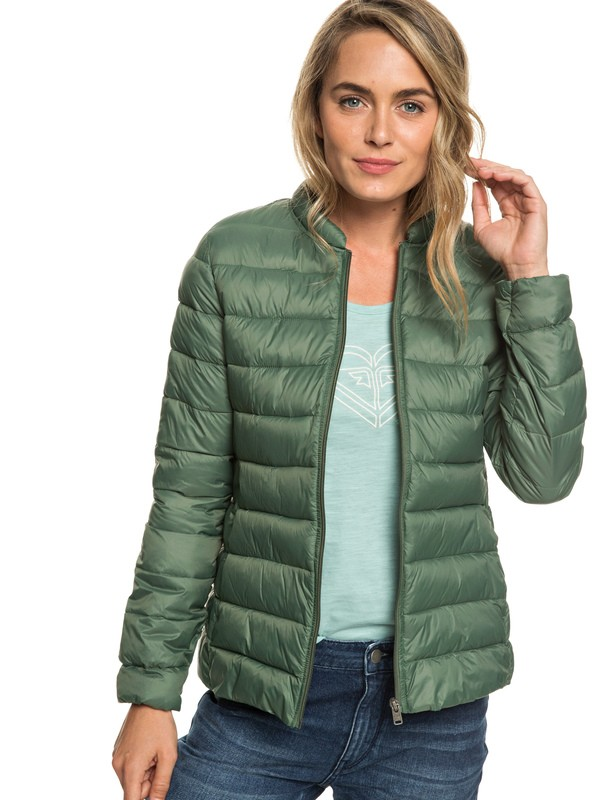 0 Endless Dreaming - Packable Lightweight Puffer Jacket Green ERJJK03252 Roxy