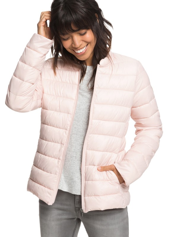 0 Endless Dreaming Packable Lightweight Puffer Jacket Pink ERJJK03252 Roxy