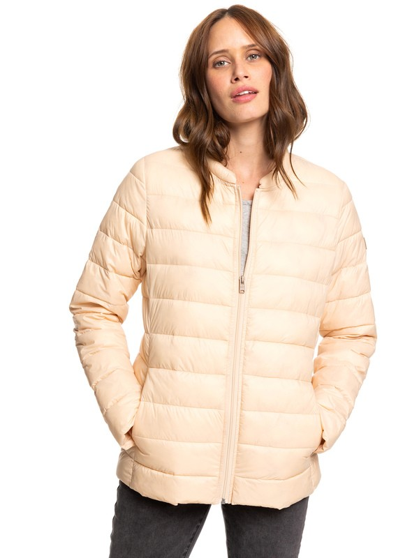 0 Endless Dreaming - Packable Lightweight Puffer Jacket Beige ERJJK03252 Roxy