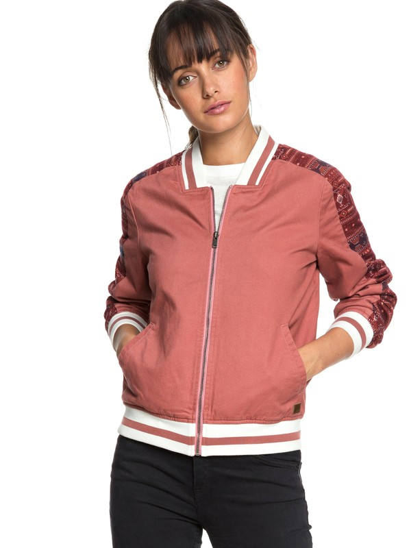 0 Free And Wild Bomber Jacket Pink ERJJK03261 Roxy