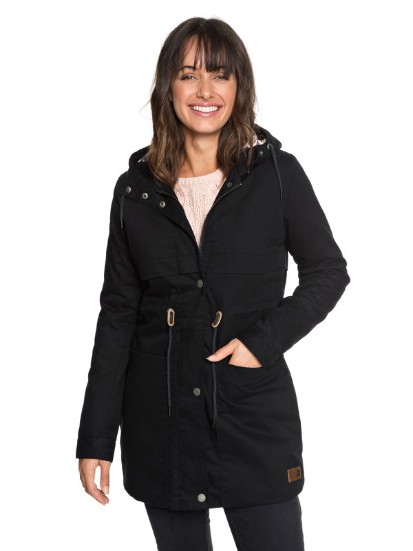 0 Sea Dance - Hooded Parka for Women Black ERJJK03267 Roxy