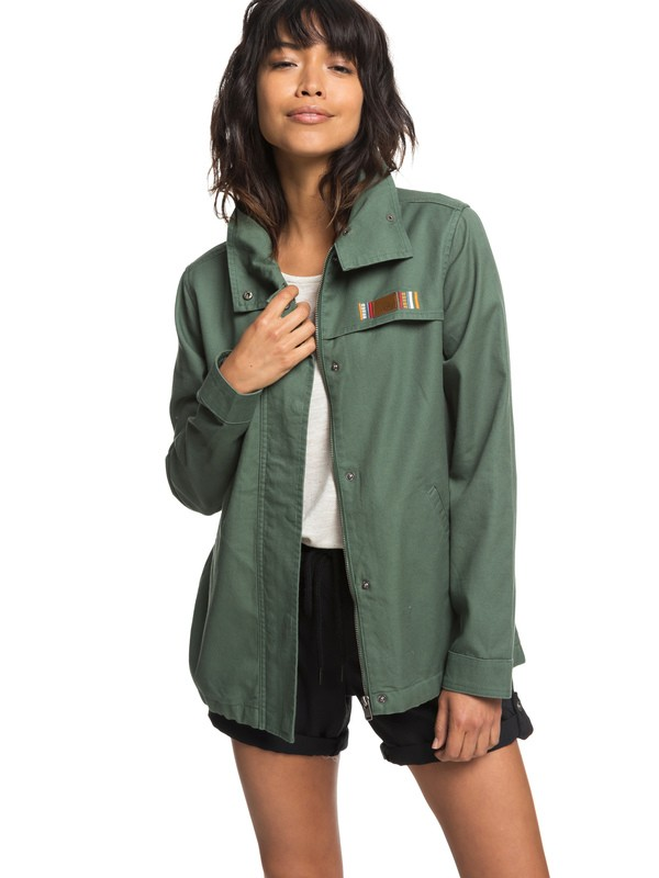 0 Freedom Fall - Water-Repellent Jacket for Women Green ERJJK03276 Roxy