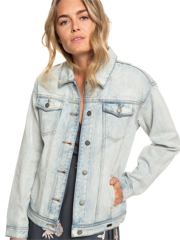 0 Midnight Drive - Giacca Boyfriend in Denim da Donna Blue ERJJK03279 Roxy