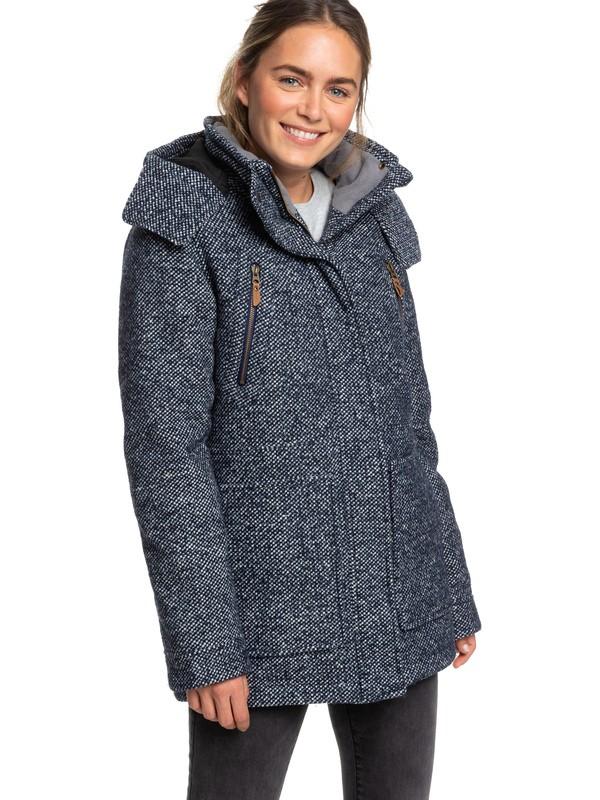 0 Dawn Technical Insulated Hooded Coat Blue ERJJK03295 Roxy