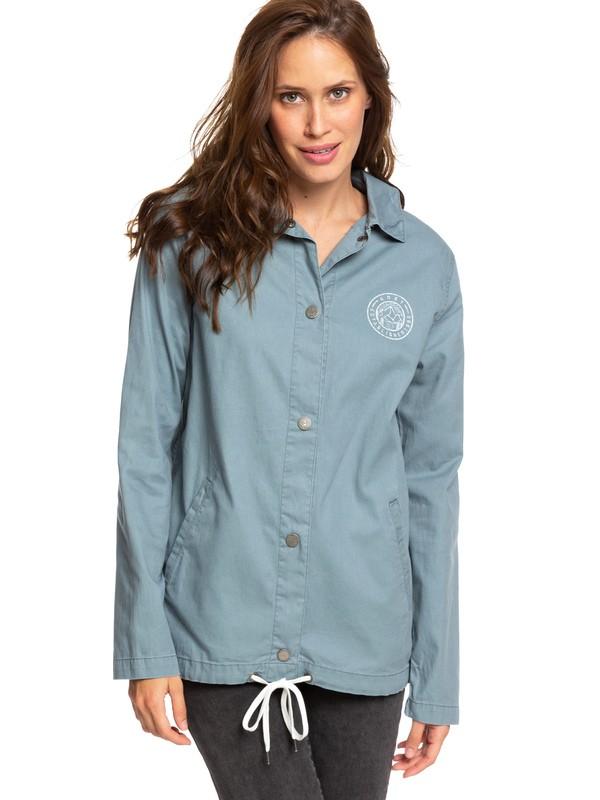 0 Dream Trip Coaches Jacket Blue ERJJK03313 Roxy