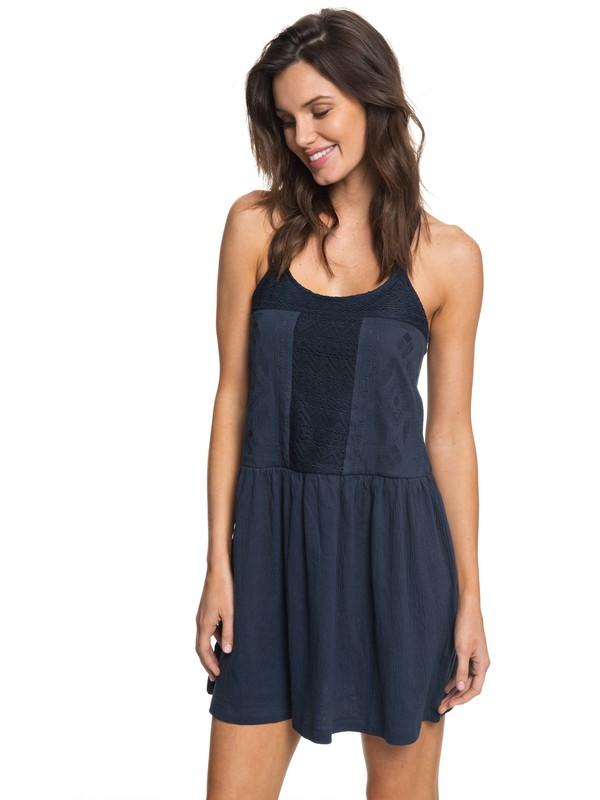 0 White Beaches - Riemchenkleid für Frauen Blau ERJKD03167 Roxy