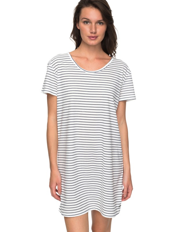 0 Just Simple Stripe - T-shirt Jurk Blue ERJKD03172 Roxy