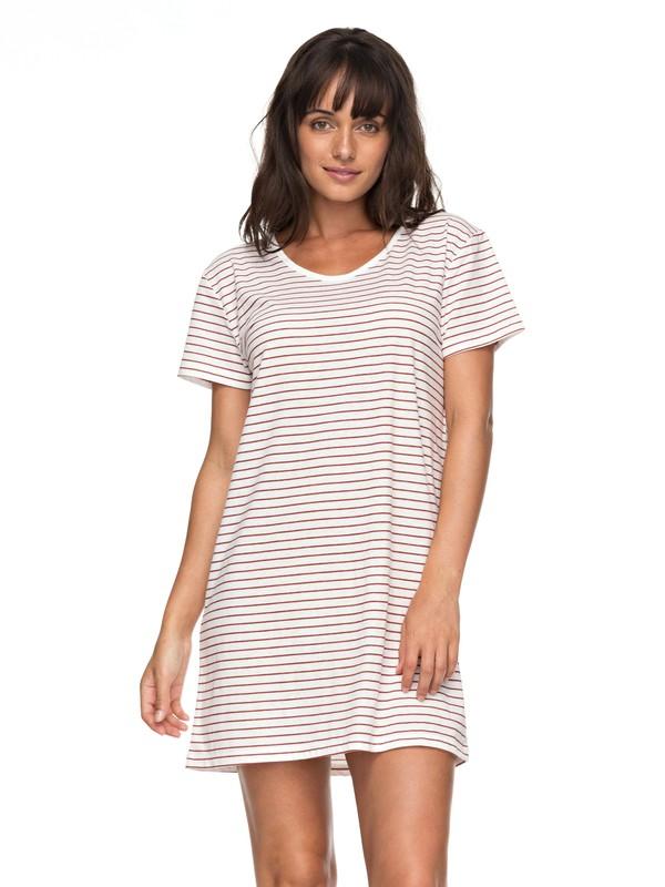 0 Just Simple Stripe - Maglietta Vestito Orange ERJKD03172 Roxy