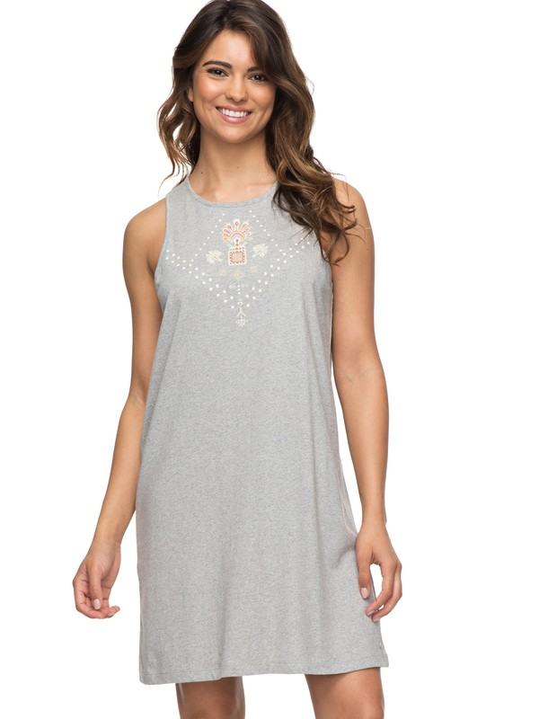 0 Sedona Tank Dress Grey ERJKD03182 Roxy