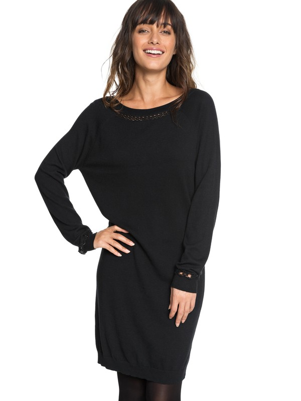 0 Expression Of Nature Long Sleeve Dress Black ERJKD03204 Roxy