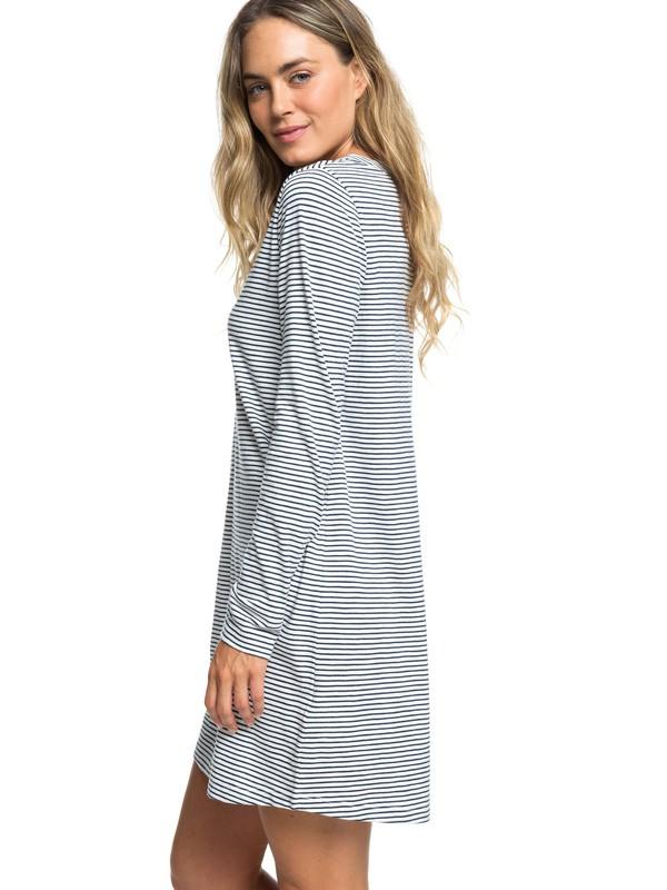 0 Love Sun Long Sleeve T-Shirt Dress Blue ERJKD03234 Roxy