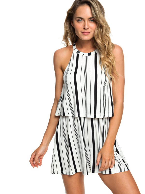 0 Favorite Song High Neck Strappy Romper White ERJKD03241 Roxy