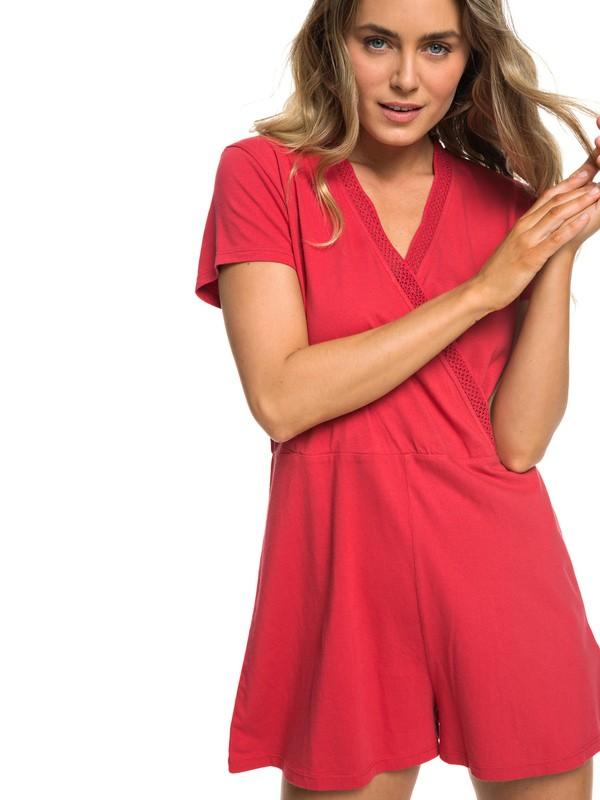 0 Travel Dream - Combishort manches courtes pour Femme Rouge ERJKD03245 Roxy