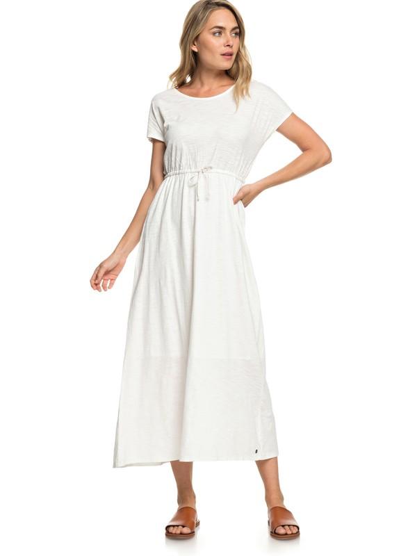 0 Wavelines - Vestido Extra Largo de Manga Corta para Mujer Blanco ERJKD03251 Roxy
