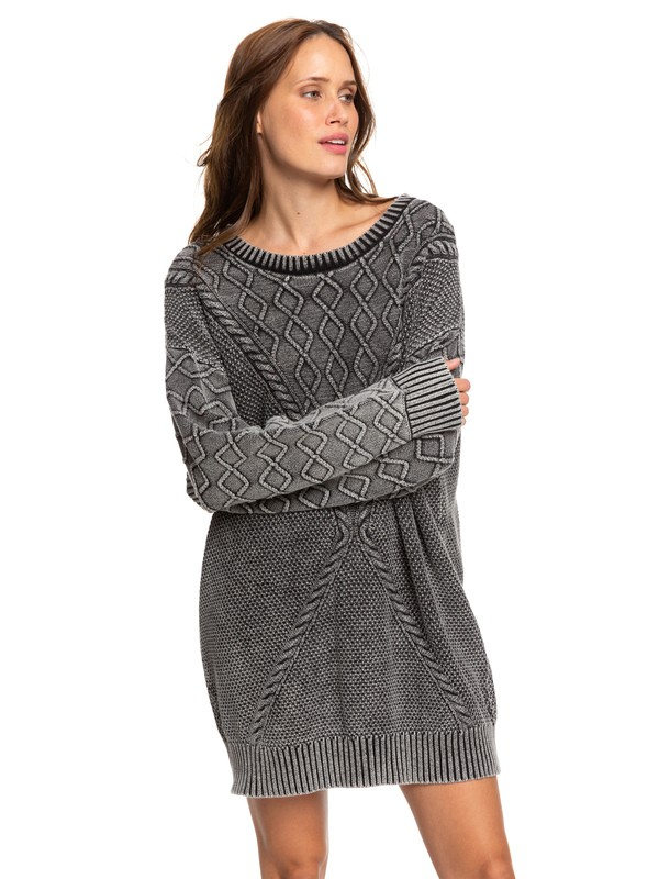 0 Snow Day Sweater Dress Beige ERJKD03272 Roxy