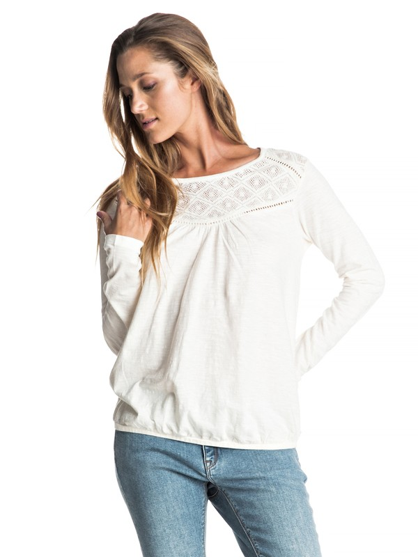 0 Carried Aweigh - Long Sleeve Top White ERJKT03154 Roxy