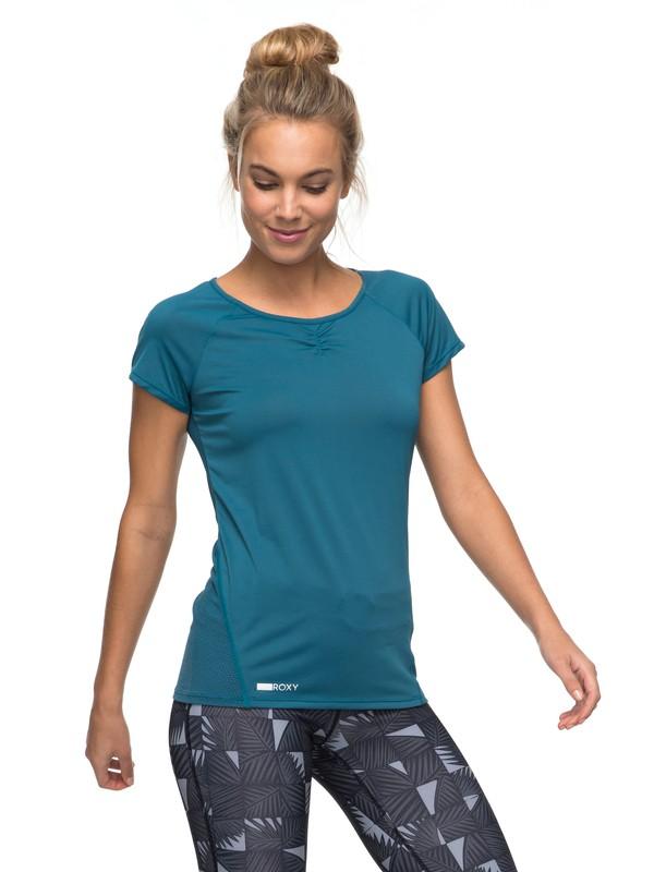0 Wild Soul - T shirt de sport pour Femme Bleu ERJKT03295 Roxy