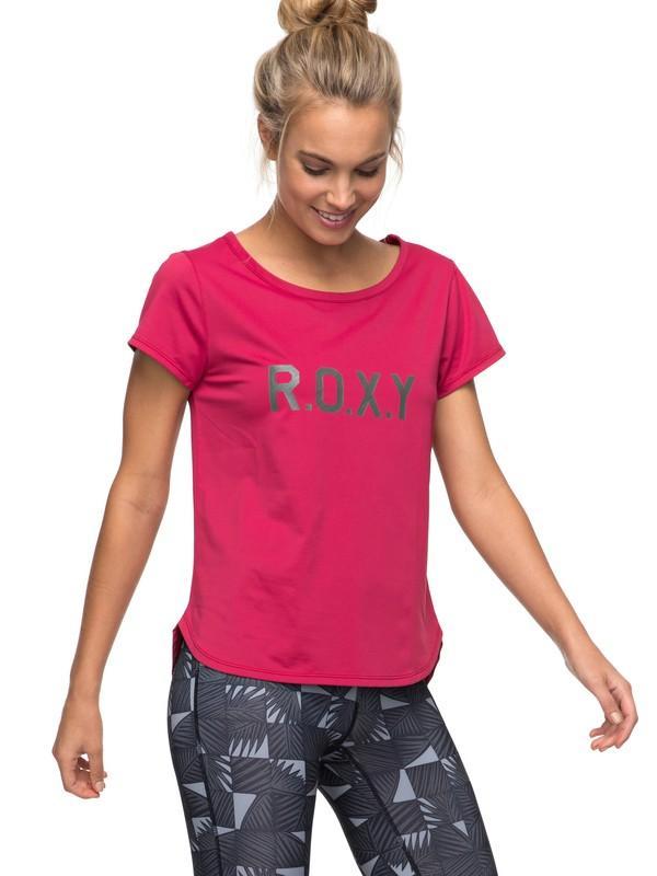 0 Shiny Way - Funktionelles T-Shirt für Frauen Rosa ERJKT03297 Roxy