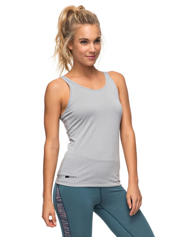 0 Nazdee - Camiseta sin mangas de diseño técnico para Mujer Gris ERJKT03302 Roxy