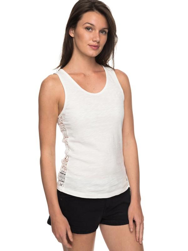 0 Aloha Sun - Camiseta de Tirantes para Mujer Blanco ERJKT03350 Roxy
