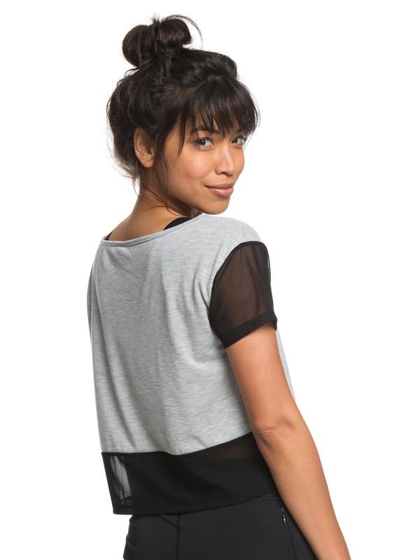 0 Meaning Of Soul - Camiseta de diseño técnico para Mujer Gris ERJKT03440 Roxy