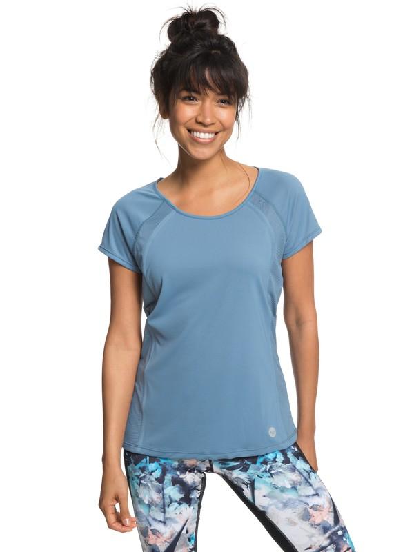 0 Live Forever - Camiseta de diseño técnico para Mujer Azul ERJKT03446 Roxy
