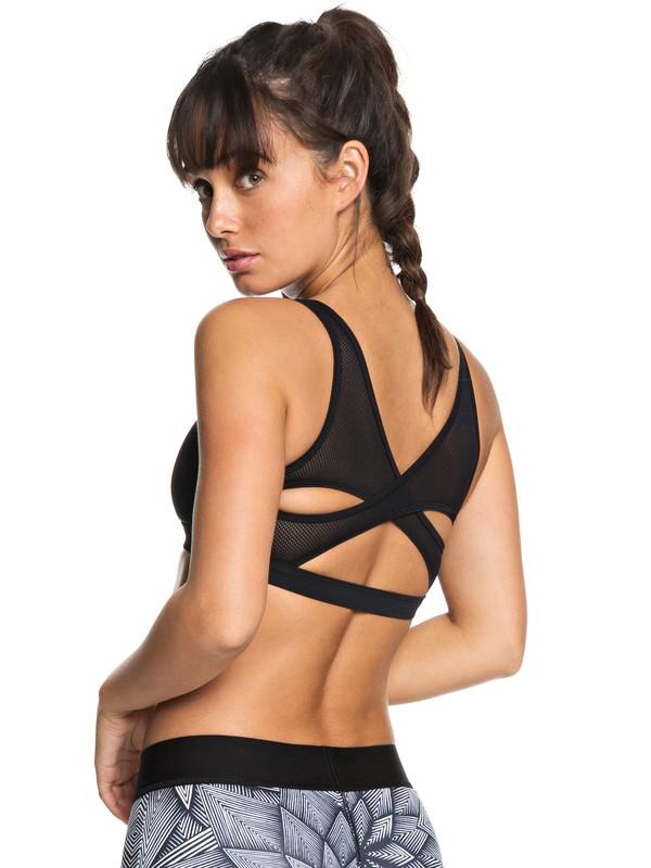 0 Tropical Twist - Brassière de sport pour Femme Noir ERJKT03447 Roxy