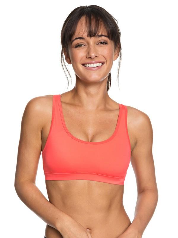 0 Tropical Twist - Brassière de sport pour Femme Rouge ERJKT03447 Roxy