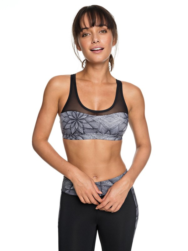 0 Chasing Dreams Sports Bra White ERJKT03451 Roxy