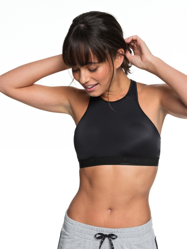 0 Pure Morning Bra Sports Bra Black ERJKT03453 Roxy