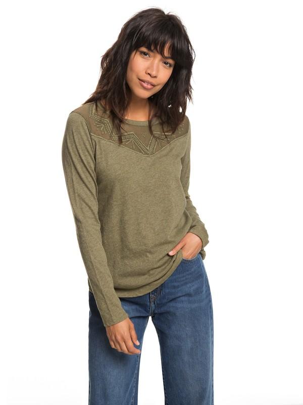 0 Blossom Day - Long Sleeve Top for Women Green ERJKT03460 Roxy