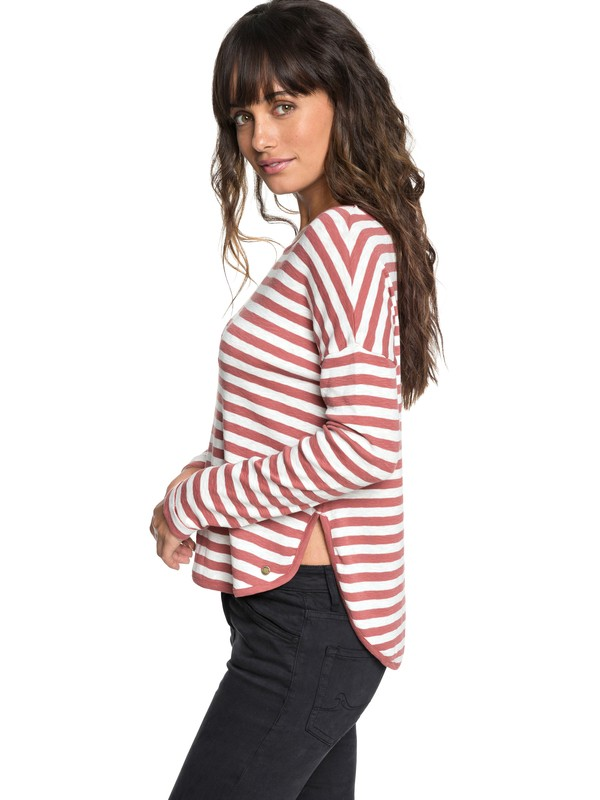 0 Curious Direction - T-shirt à manches longues pour Femme Rose ERJKT03464 Roxy