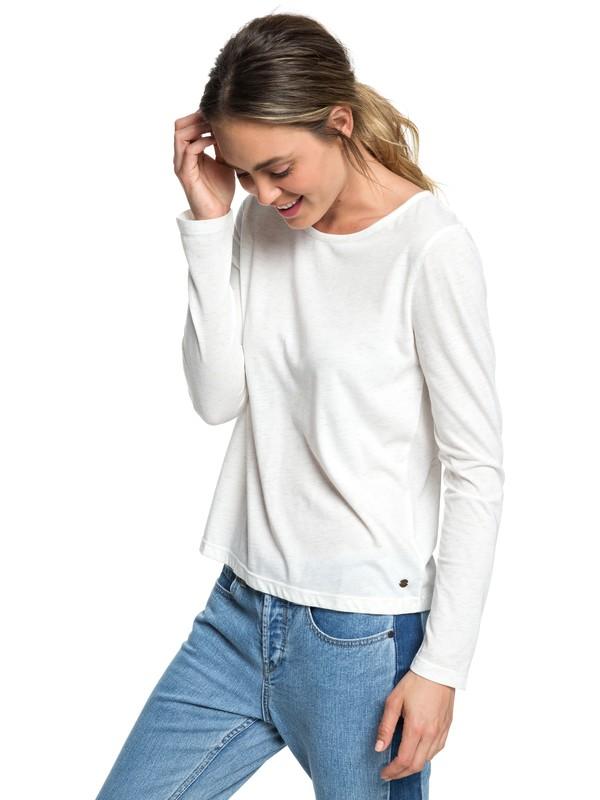 0 Lonely Night - T shirt manches longues col rond pour Femme Blanc ERJKT03470 Roxy