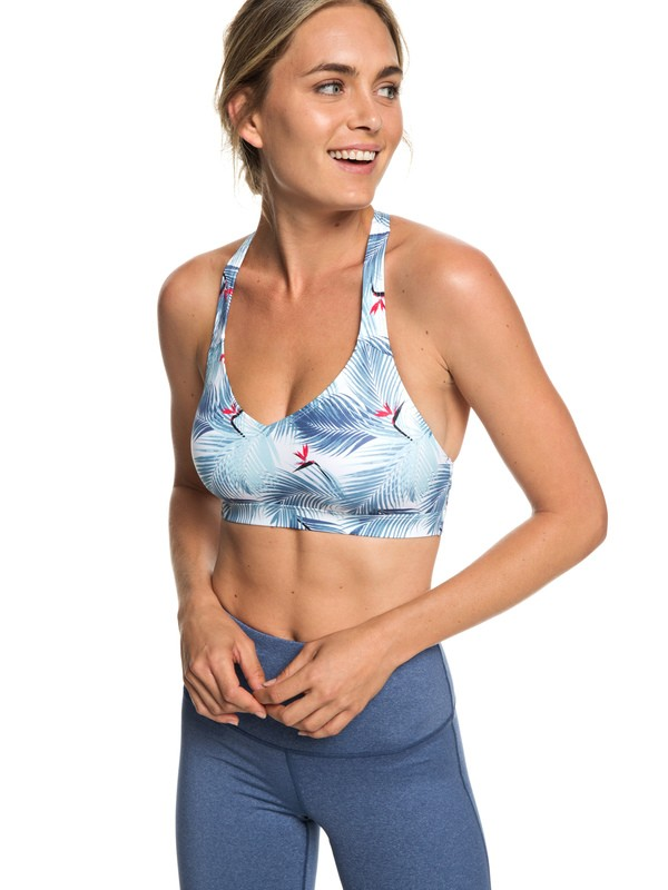 0 Nova Vida - UPF 50 Sports Bra for Women White ERJKT03499 Roxy