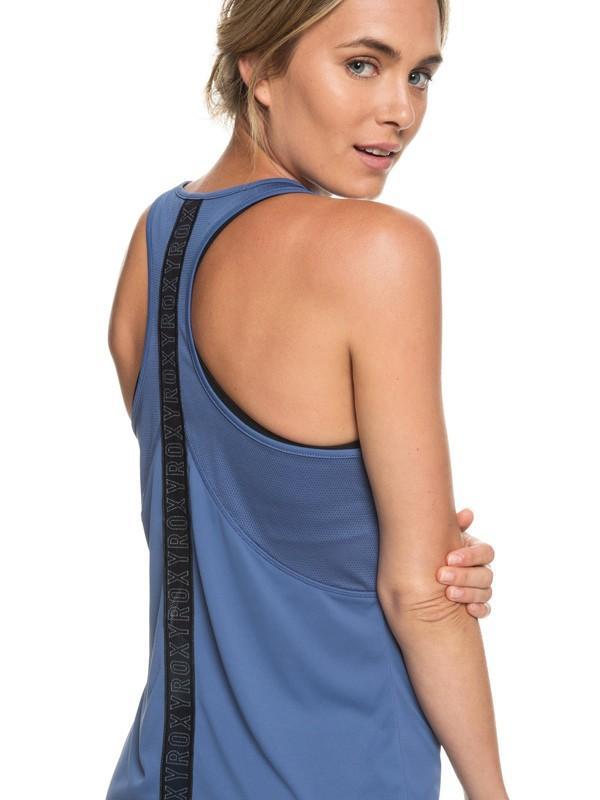 0 Chasing Sunset - Camiseta para Correr con Espalda Atlética para Mujer Azul ERJKT03505 Roxy
