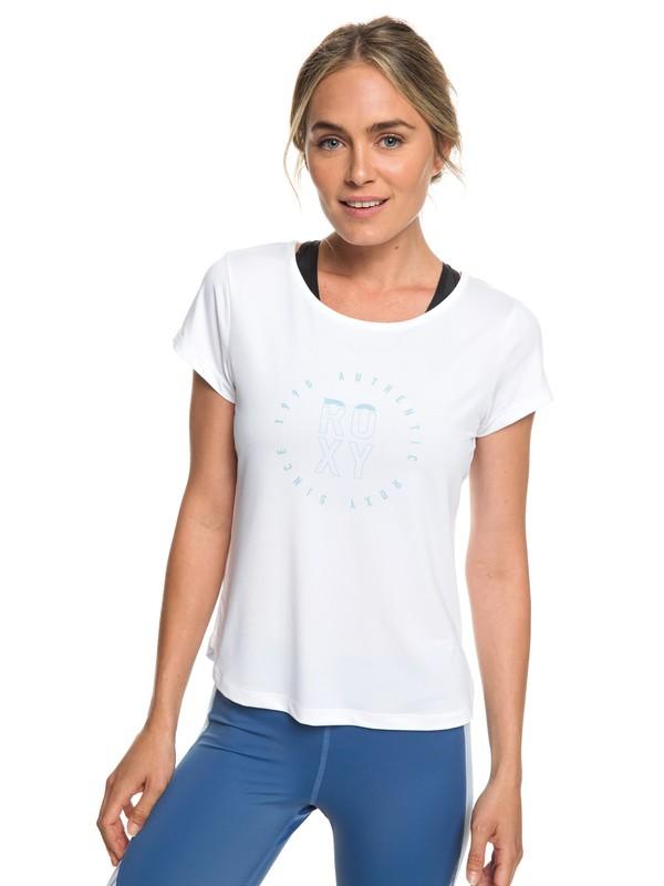 0 Last Dance - Camiseta Deportiva para Mujer Blanco ERJKT03507 Roxy