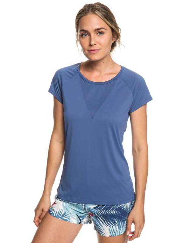 0 Chasing Sunset - T-shirt de running pour Femme Bleu ERJKT03508 Roxy