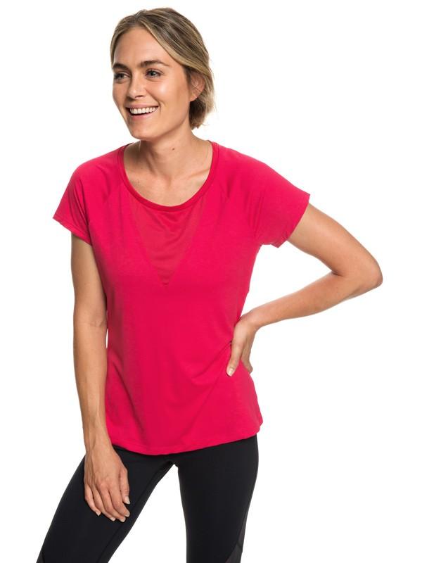 0 Chasing Sunset - Camiseta para Correr para Mujer Rosa ERJKT03508 Roxy
