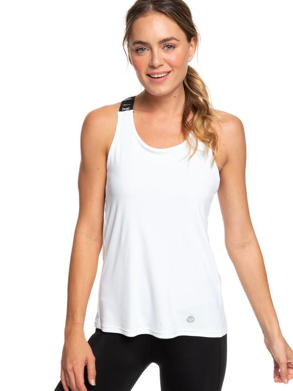 0 Lets Glow - Débardeur de sport pour Femme Blanc ERJKT03513 Roxy