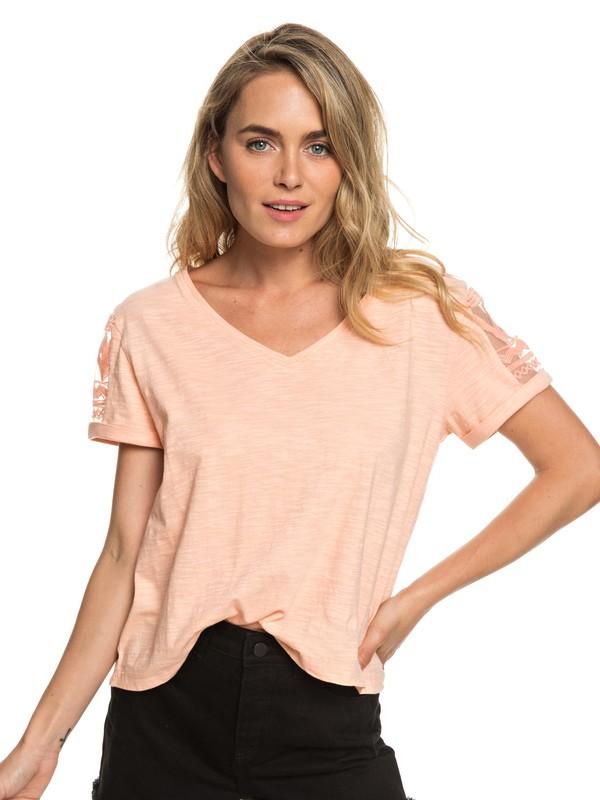 0 Turn Around Me - T-shirt pour Femme Rose ERJKT03520 Roxy