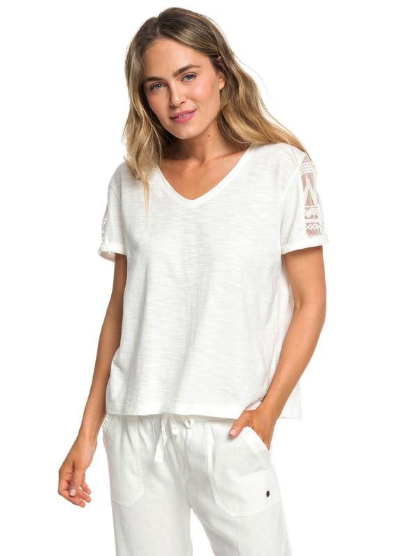 0 Turn Around Me - Camiseta para Mujer Blanco ERJKT03520 Roxy