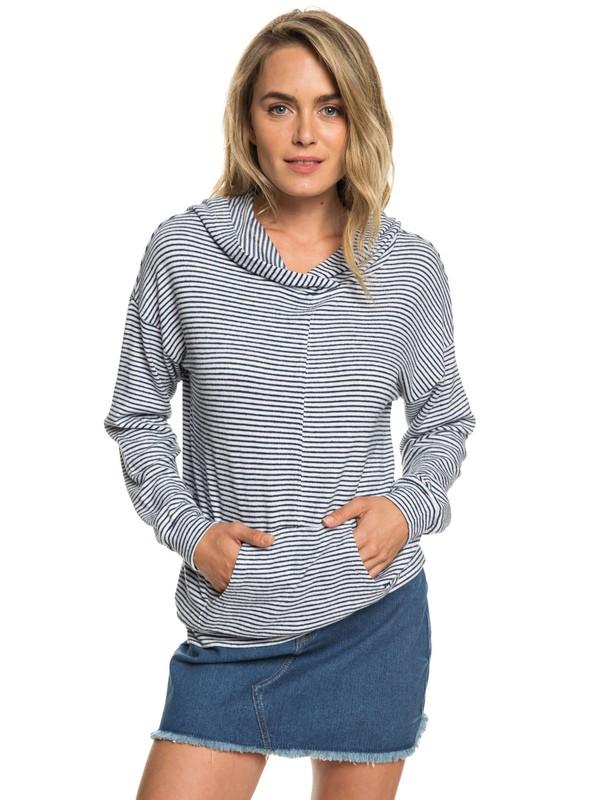 0 Sandy Coast - Sweat à capuche doux pour Femme Bleu ERJKT03533 Roxy