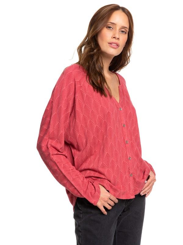 0 Free Fallin - Haut manches longues boutonné pour Femme Rouge ERJKT03559 Roxy