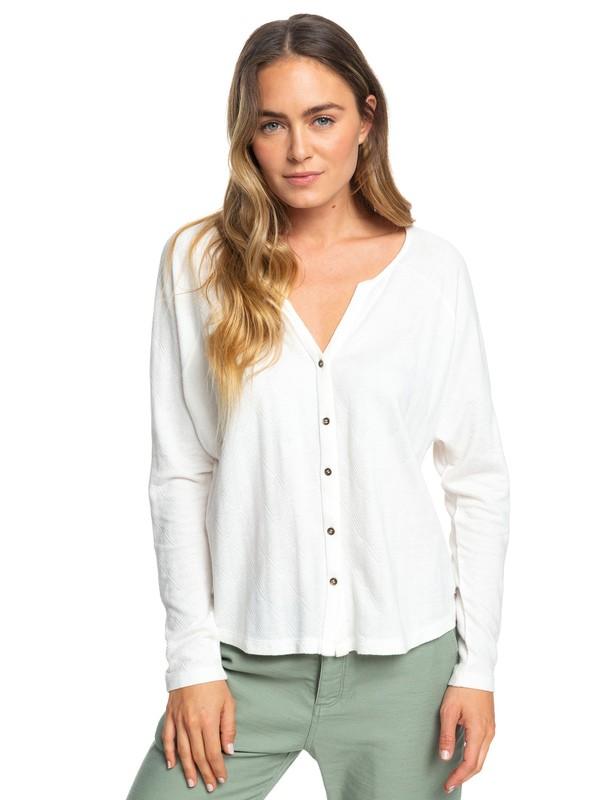 0 Free Fallin - Haut manches longues boutonné pour Femme Blanc ERJKT03559 Roxy