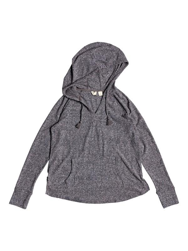 0 Long Night Hooded Long Sleeve Top Black ERJKT03561 Roxy